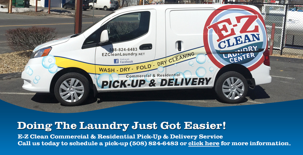 E-Z Clean offers Pick-Up and Delivery Laundry Service